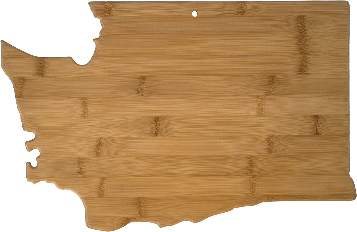 Totally Bamboo 20-7986WA State Cutting & Serving, Washington, Made From 100% Organic Extremely Strong & Durable Multi Functional Bamboo Cutting board for Cooking, Entertaining, Decor
