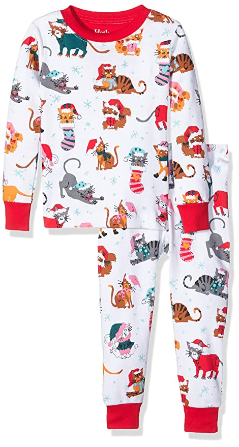 Toddler Girl Christmas Cat Kids Holiday Pajamas