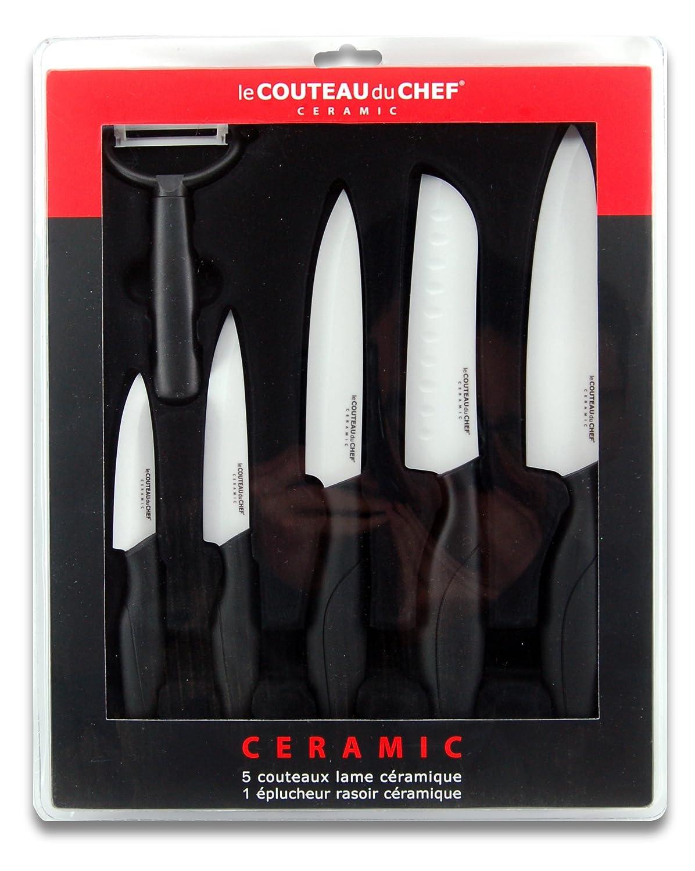 Cool lot couteaux cramique le couteau du chef lame blanche - Meilleur couteau cuisine ...