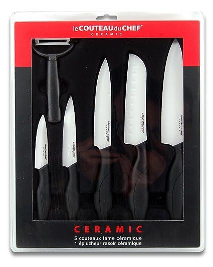 Le Couteau du Chef 447980 Juego de Cuchillos, Cuchilla, 30 x 37 x 3,4 cm, en Caja, 6 Teiliges Set