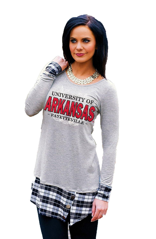 d3803317 Amazon.com: Gameday Couture Arkansas Plaid Panel Tunic: Sports & Outdoors