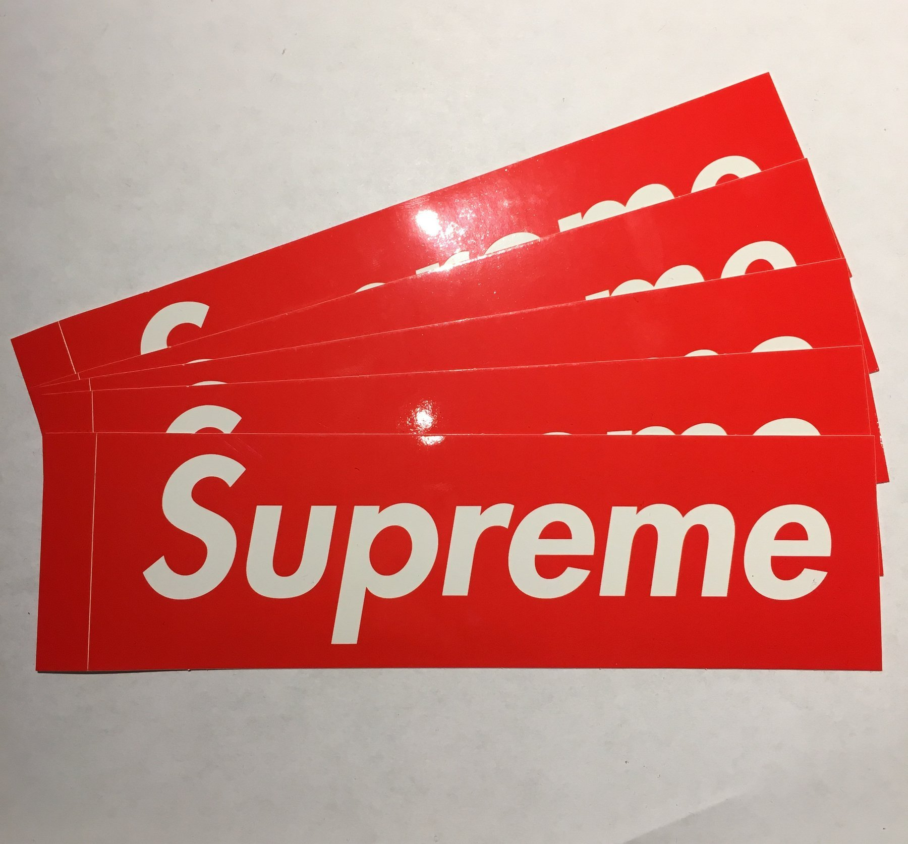 Fresh 2 Pieces Large Supreme Stickers (8 inches x 2.2 inches) Skate  HV61