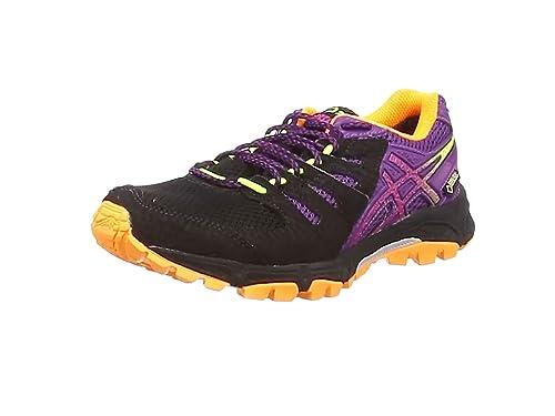 Asics Gel-FujiAttack 4 G-TX, Damen Traillaufschuhe, Schwarz (Onyx/Hot Pink/Purple 9920), 38 EU