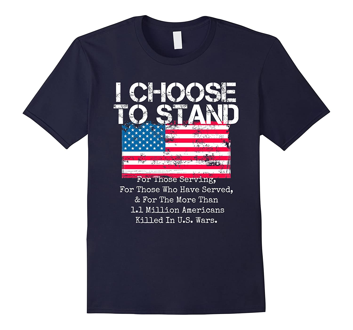 Patriotic Flag T-Shirt I Choose to Stand American Flag Shirt-T-Shirt