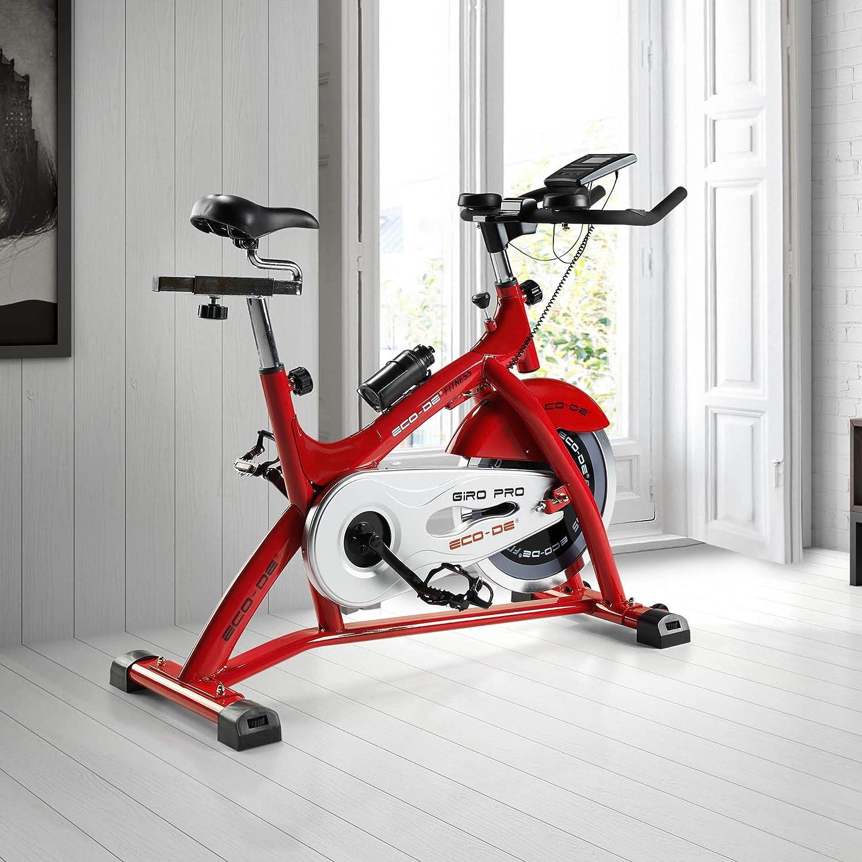 ECO-DE Bicicleta de Spinning Giro Pro. Uso semiprofesional con ...