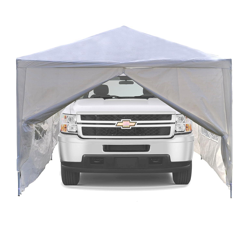 amazon com aleko 30 x 10 portable garage carport car shelter