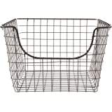 Spectrum Diversified Scoop Wire Storage Basket, Medium, Industrial Gray