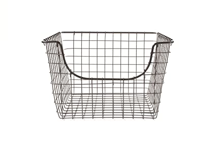 Genial Spectrum Diversified Scoop Wire Storage Basket, Medium, Industrial Gray