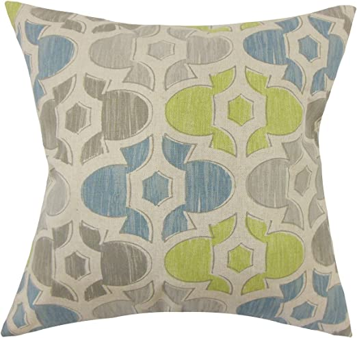 The Pillow Collection Bhayva Geometric Bedding Sham Florence Euro//26 x 26