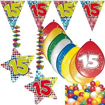 54 Set de decoración de fiesta Set * Número 15 * Cumpleaños ...