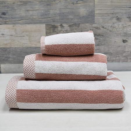 Sensei Maison - Pack de 3 Piezas de 580 gr/m2-1 Toalla de baño + 1 Toalla de Ducha + 1 Toalla de Invitados, Muy Suave y Absorbente - 80% algodón y 20% Mod. - Color: Amazon.es: Hogar