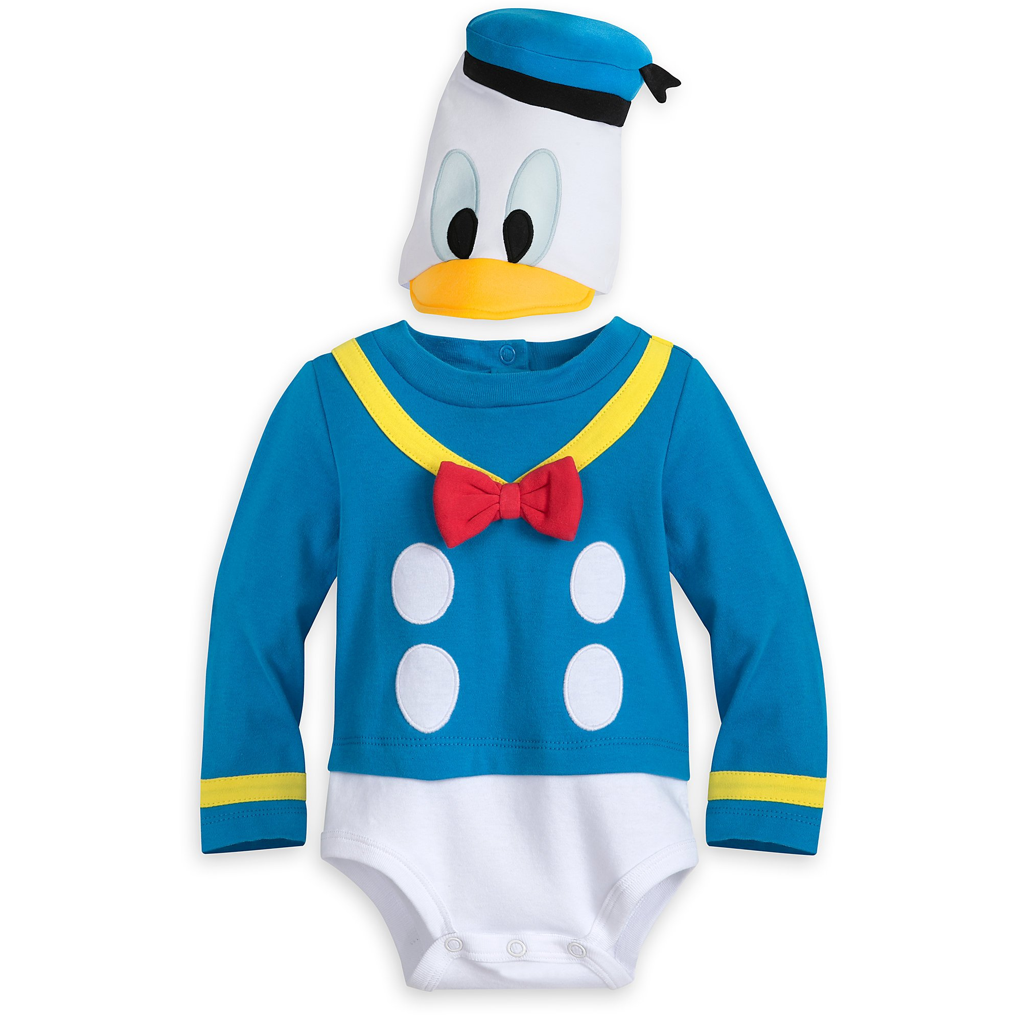 Disney Donald Duck Costume Bodysuit for Baby Size 9-12 MO Multi