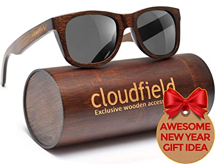 Handmade Unisex Wood Polarized Sunglasses Half Brown Wood Frame Glasses New  Christmas presents 216825eef