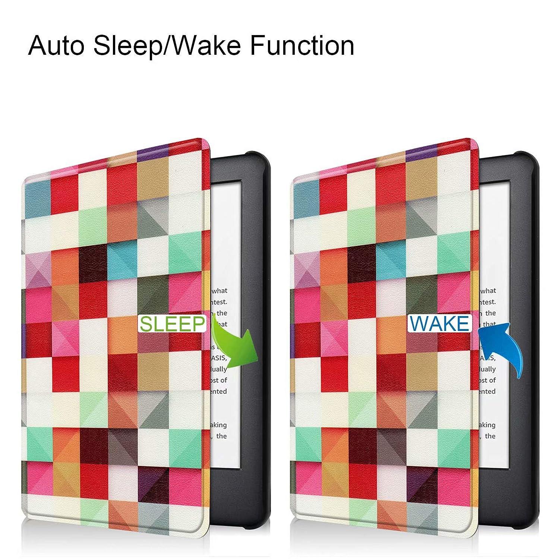 Funda Smart Cover de 6 Pulgadas con funci/ón Atril y funci/ón de Encendido y Apagado autom/ático Rojo Rojo 10. Generaci/ón Lobwerk Funda para  Kindle 2019