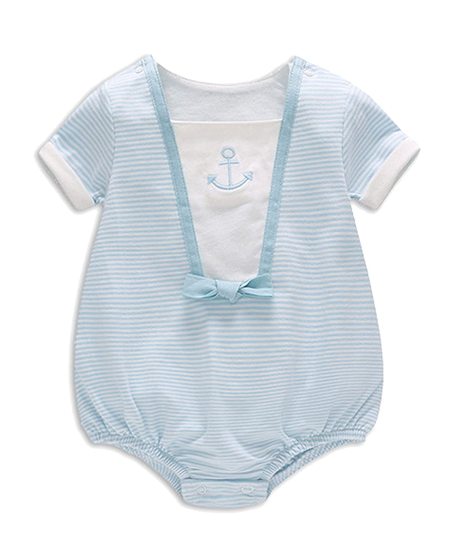 Newborn Baby Girl Boy Short Sleeve Romper Jumpsuit Bodysuit One-pieces Clothes