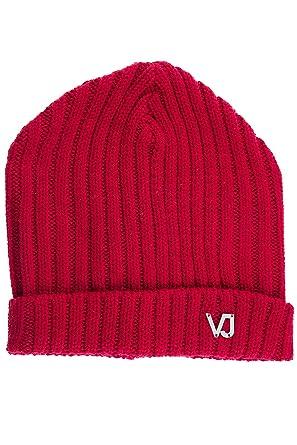 5acf946ae2 Versace Jeans bonnet homme en laine rouge EU UNI E8GQBK00: Amazon.fr ...