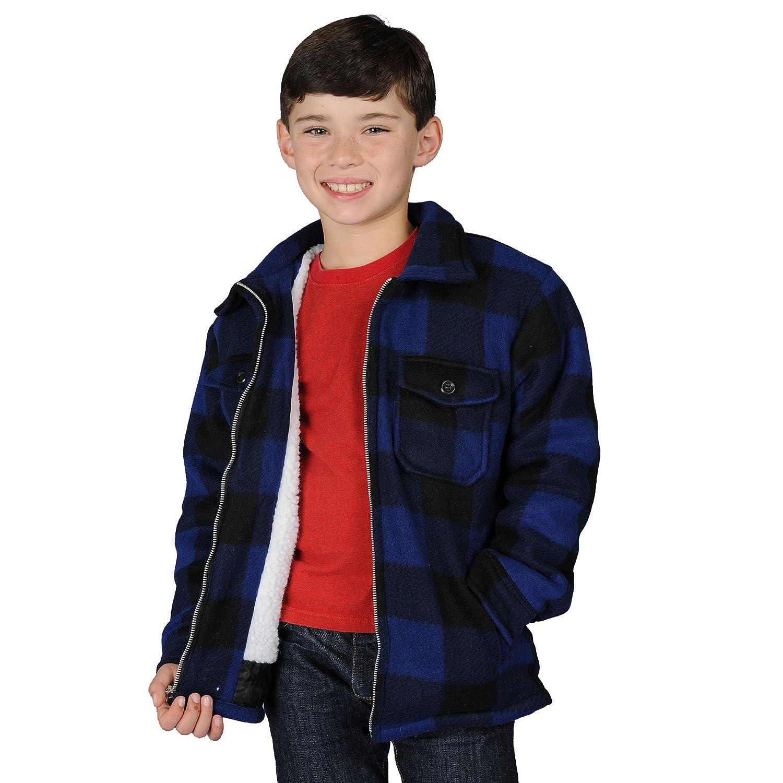 Oscar Boys Sherba Lined Buffalo Fleece Jacket (Small, Blue)
