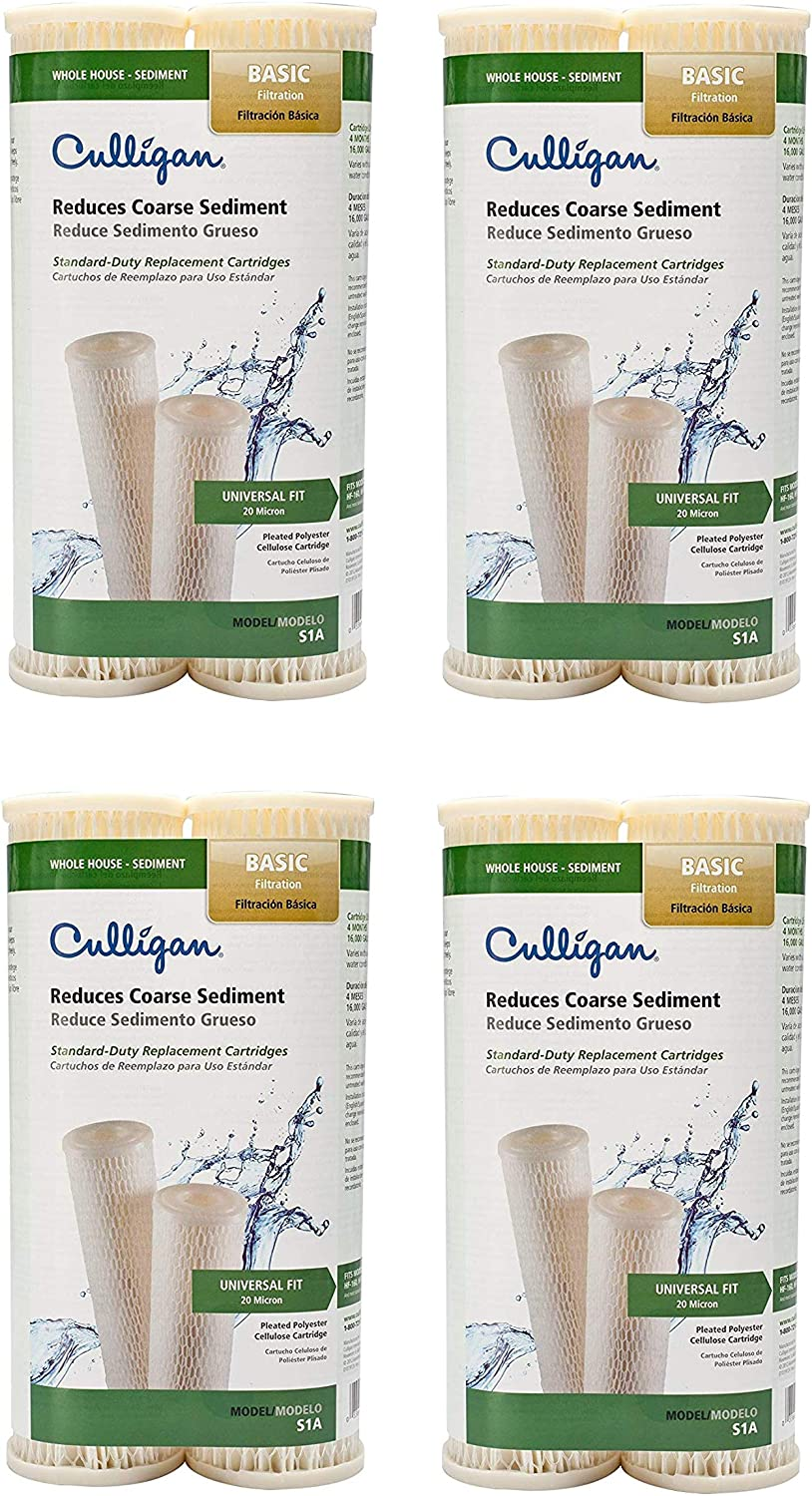 Culligan S1A Whole House Standard Water Filter, 16,000 Gallons, 4 Pack: Home & Kitchen