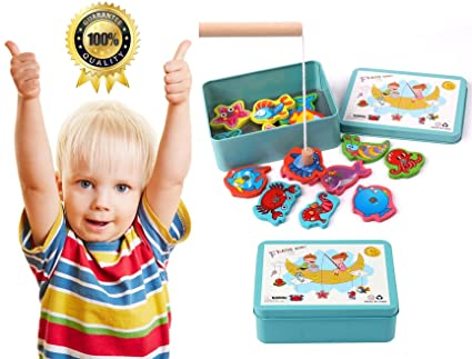 Fishing Toys Fishing Game Non-magnetic Toy Kids Fish Educational Toys For Boys Children Toys Baby Girls New Year Gift Table Board Classic Toy