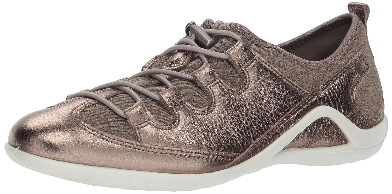 ECCO Women's Vibration II Toggle Sneaker B07752NGTC 37 M EU (6-6.5 US)|Stone Metallic/Navajo Brown-black