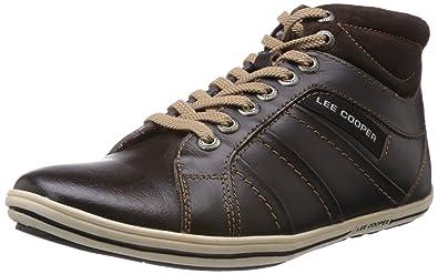 35e427b324 Lee Cooper Men's Brown Leather Sneakers - 9 UK: Buy Online at Low ...
