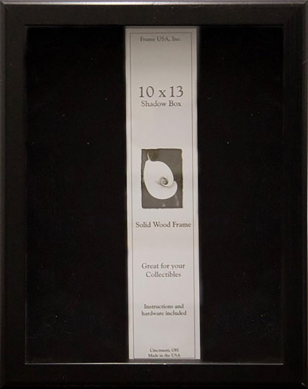 10x13 Shadow Box Wood Frame 2 1/8 Deep (Black) Frame USA 14364