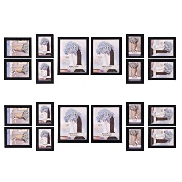 Amazon.com: SONGMICS Picture Frames Set of 20 Frames with Glass ...