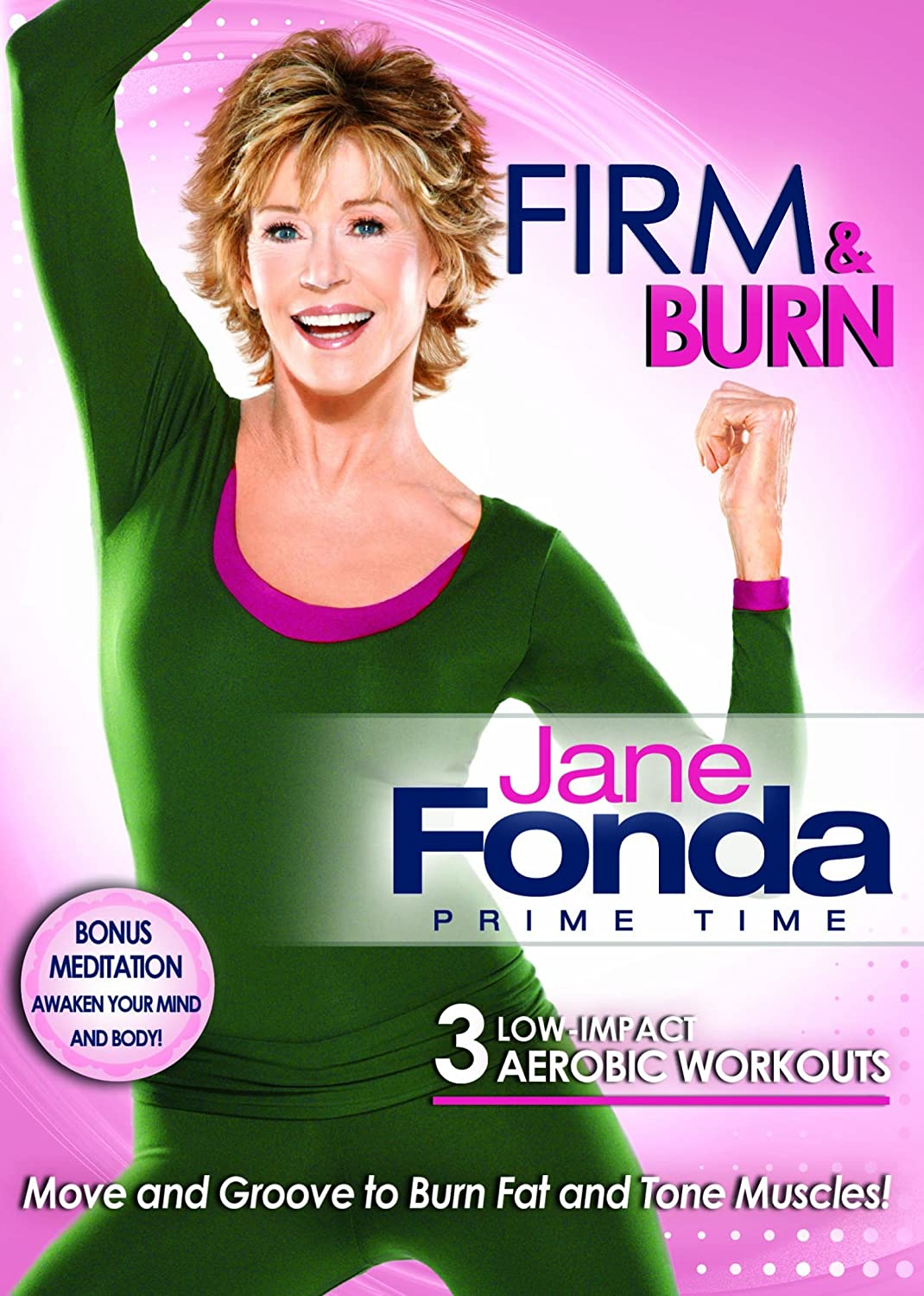 Jane Fonda Prime Time: Firm And Burn Low Impact Cardio Lionsgate Home Entertainment Exercise & Fitness