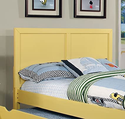 premium selection c84c4 28476 Furniture of America Kolora Adjustable Youth Headboard, Yellow, Full to  Queen