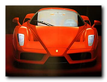 Amazoncom Red Ferrari Enzo Exotic Sports Car Wall Decor Art - Sports cars posters