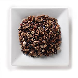Mahamosa Pomegranate Blueberry Tea 2 oz, Herbal Fruit Tea Blend Loose Leaf (with apple, hibiscus blossoms, elderberry, pomegranate, blueberry, cornflower, mallow blossoms)
