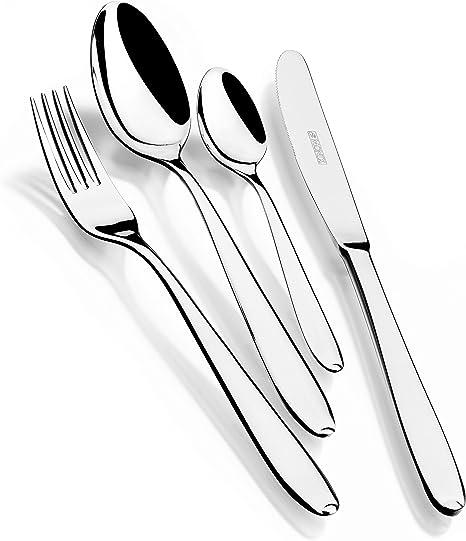 Monix London - Set de cubiertos 36 piezas de acero inox 18/10, con cuchillo, estuche normal: Amazon.es: Hogar