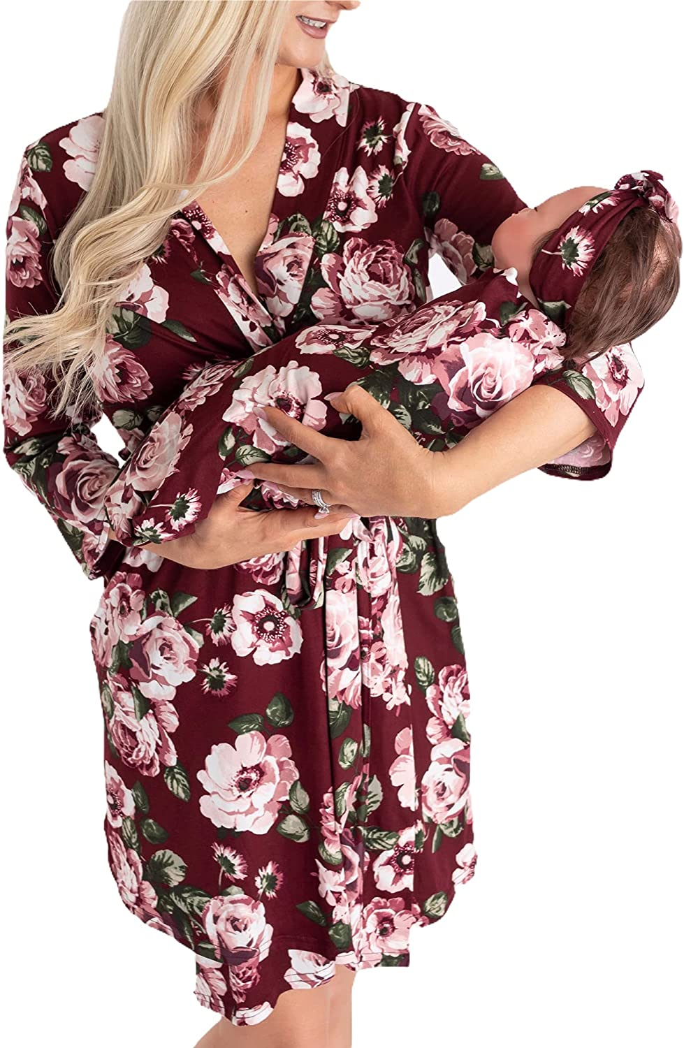 Little Ranking TOP15 Adam and Eve Maternity Matching Robe Max 70% OFF Baby Set Hospita