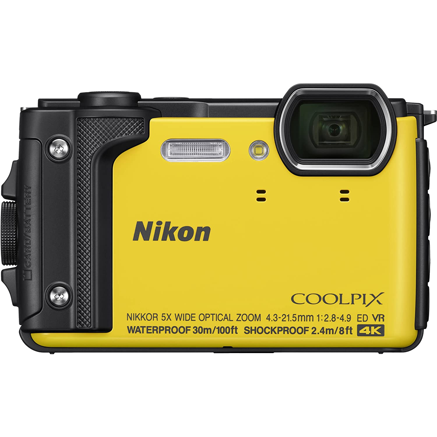 Orange Includes Promotional Sandisk 64GB Ultra Memory Card Nikon COOLPIX W300 Digital Camera with Deluxe Accessory Bundle Extended Life Replacement Battery EN-EL12 /& Much More