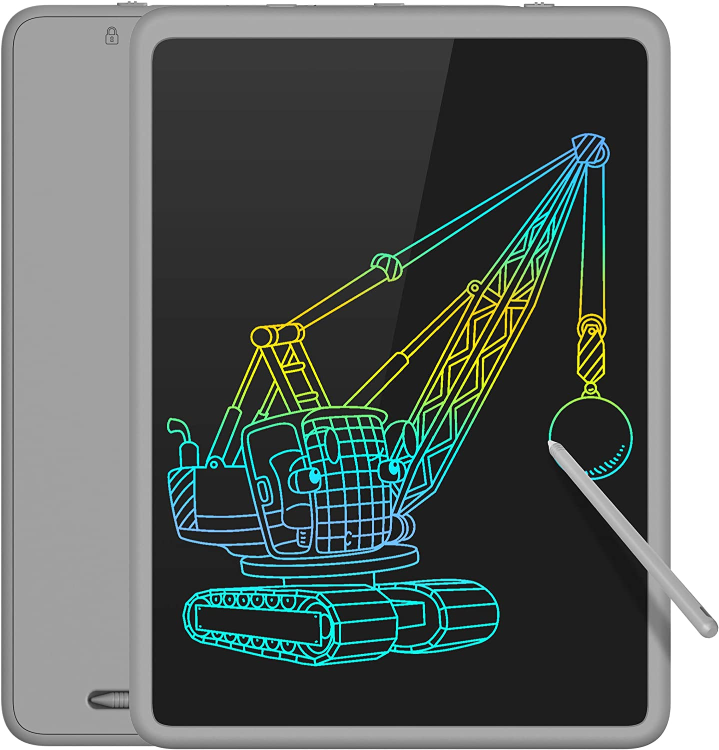 TECBOSS LCD Writing Tablet Colorful Large Screen, Electronic Digital Drawing Board Doodle Pad for Office School Home (Gray, 11inch)