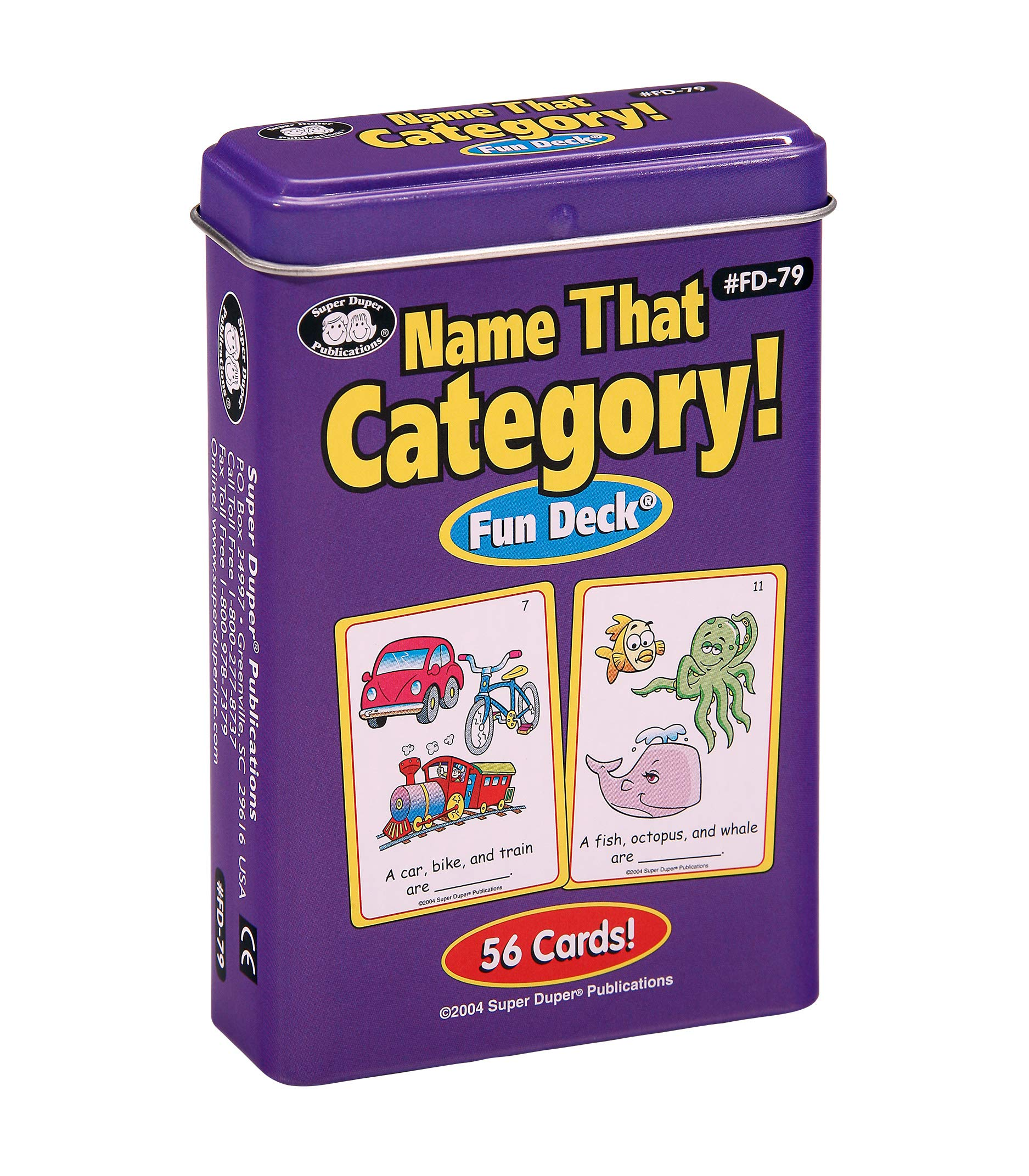 Super Duper Publications   Name That Category Fun Deck   Describing, Categorizing, and Organizational Skills Flash Cards   Educational Learning Materials for Children
