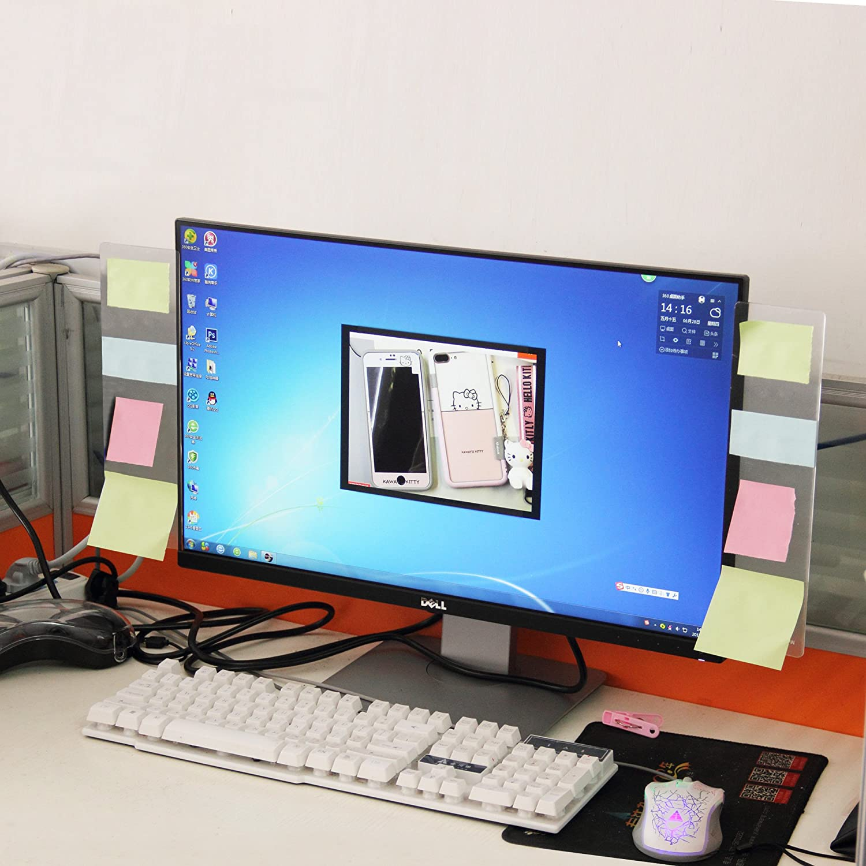 Sansheng Multifunctional Acrylic Transparent Computer Display, Monitor Message Board Side Panel/Notepad/Message Board/Computer Screen Sticker, Computer Monitor Side Panel/Monitor memo Board