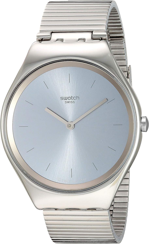 Swatch Skin Irony Quartz Stainless Steel Strap, Grey, 17 Casual Watch (Model: SYXS103GG)