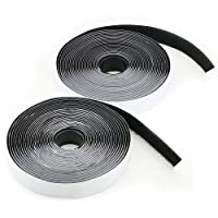 Hook and Loop Tape, LAviaes Double Sided Sticky Tape,5M Heavy Duty Reusable Self Adhesive Hook Loop Tape Roll (Black)