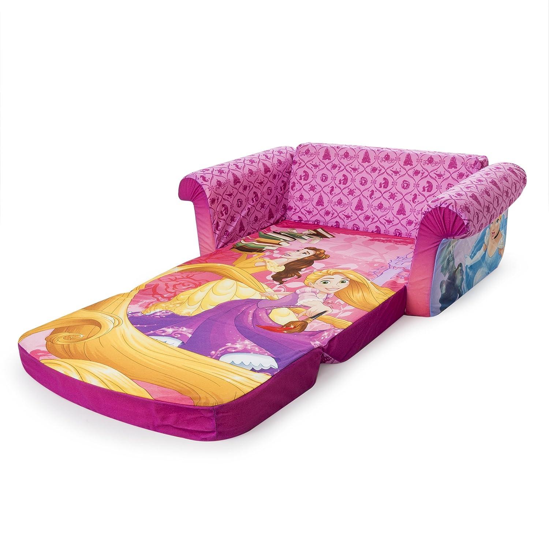 Childrens 2 in 1 Flip Open Foam Sofa Disney Princess Flip Open Sofa Marshmallow Furniture