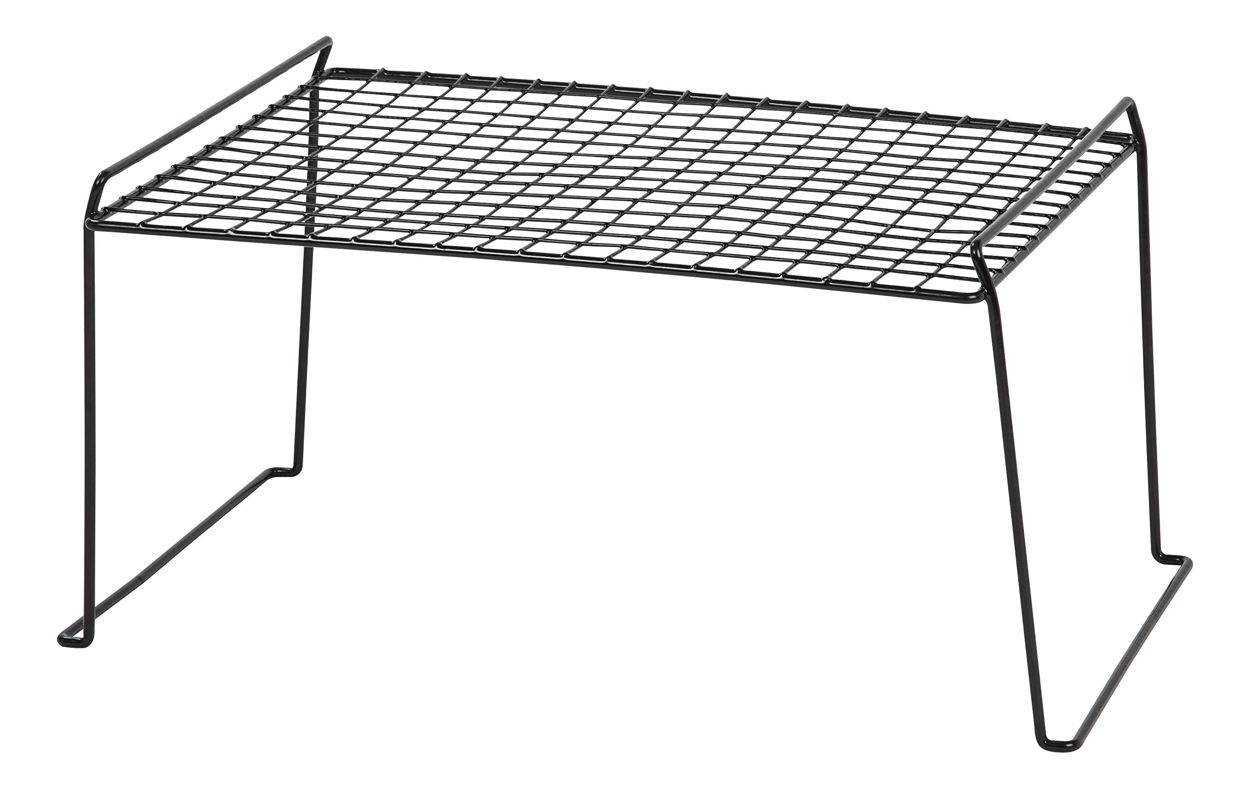 IRIS Stacking Shelf, 6 Pack, Black by IRIS USA, Inc.