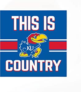 P. Graham Dunn This is University of Kansas Jayhawks Country 5.5 x 5.5 Wood Tabletop Sign