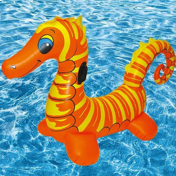 Ancaixin Gigante Flotador hinchable de Forma de Caballo de Mar para Piscina 180*60*100CM: Amazon.es: Juguetes y juegos
