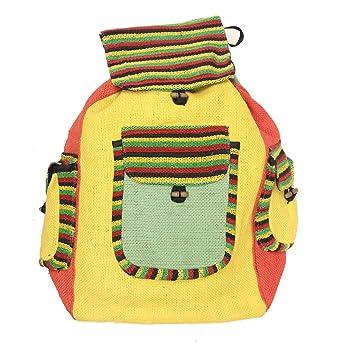 : KayJayStyles Hippie Recycled Jute Rice Rasta Bag