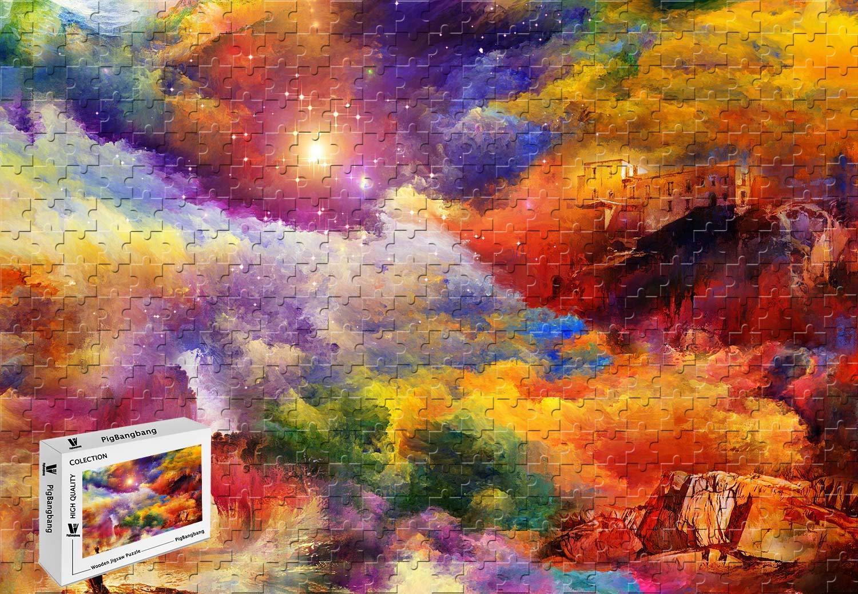 【ネット限定】 PigBangbang、20.6 X 15.1インチ X、プレミアム木製 B07GCYTL24、明るいカラフルな大きなサイズの装飾絵画 - PigBangbang、20.6 明るい色の家 ロックアートペイント - 500ピース ジグソーパズル B07GCYTL24, ハンドメイドオルゴール*夢の音*:ab9ad34f --- a0267596.xsph.ru