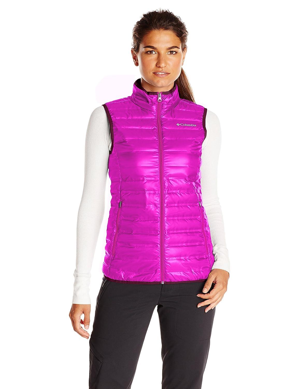 Columbia Flash Forward Chaleco Mujer, Chaleco, Mujer, Color Morado - Bright Plum, tamaño L 1639961 WL1056_530-L