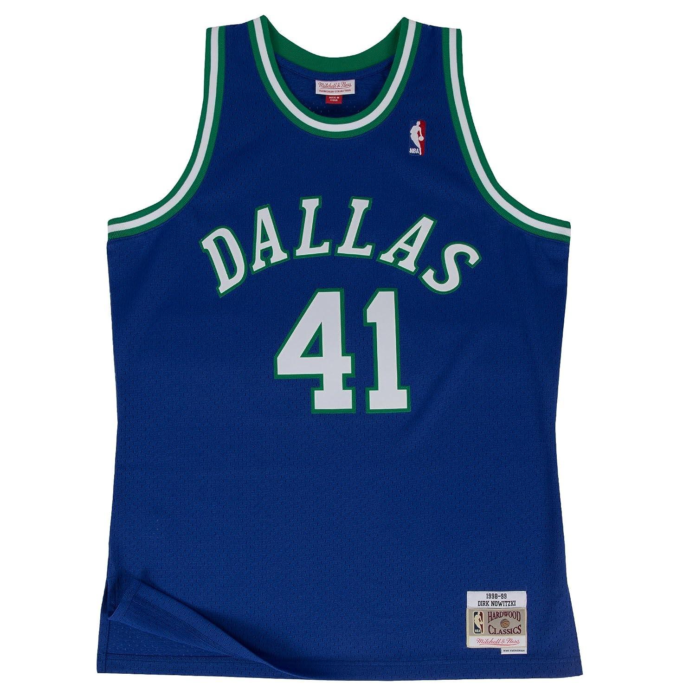 c1711fc91 Amazon.com : Mitchell & Ness Dirk Nowitzki 1998-99 Dallas Mavericks Blue  HWC Swingman Jersey : Clothing