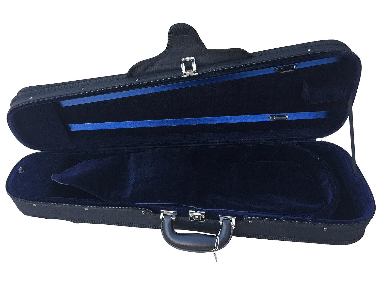 Vio Music Dart Shaped Light Portable Suspension Violin Carry Case With Shoulder Rest Compartment (3/4) DartWoodVCase 1