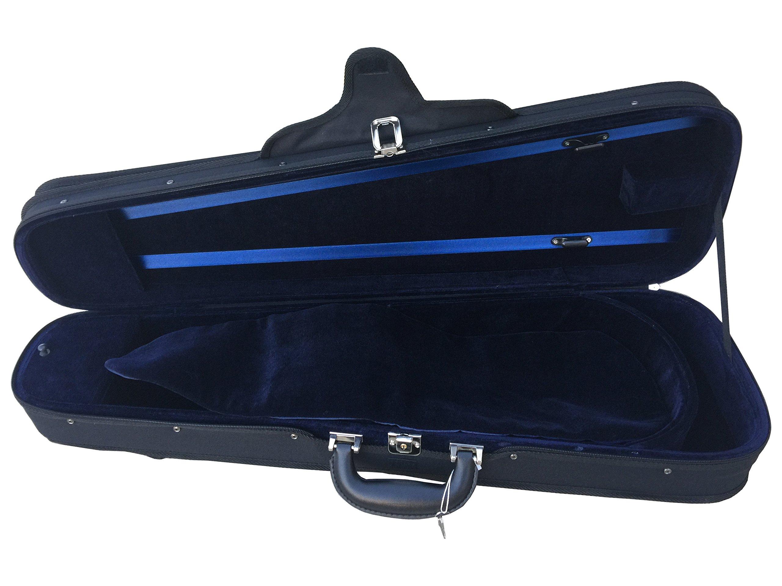 Vio Music Dart Shaped Light Portable Suspension Violin Carry Case (4/4)