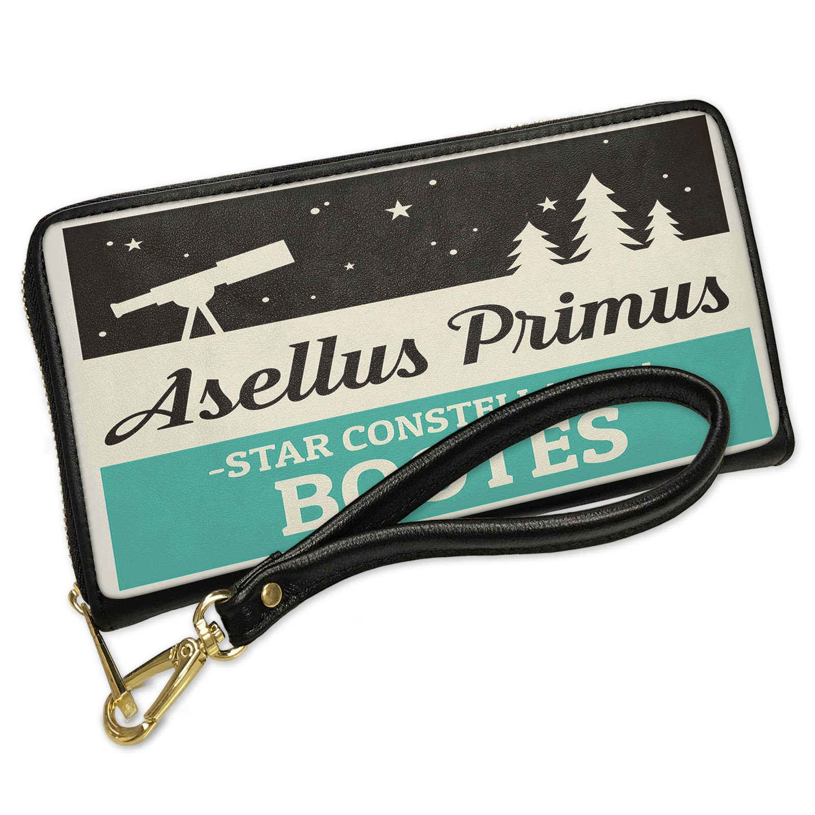 Wallet Clutch Star Constellation Name Bootes - Asellus Primus with Removable Wristlet Strap Neonblond